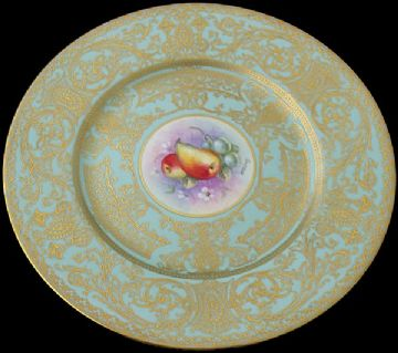Large Royal Worcester Fruit Plate By Higgins